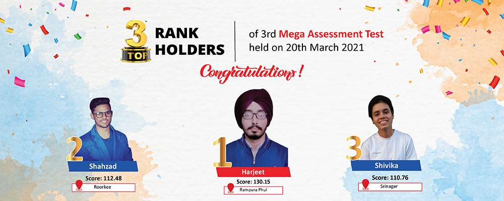 Top 3 RANK HOLDERS - Website Banner