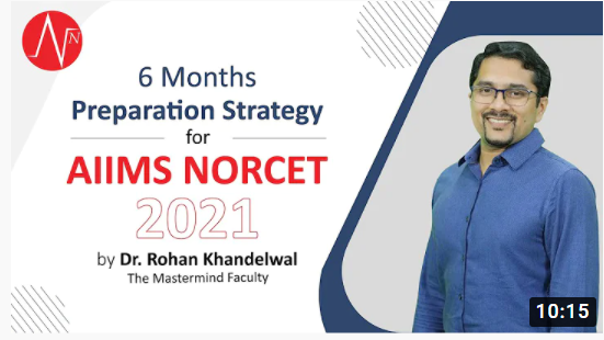 Last 6 Months Preparation Strategy for AIIMS NORCET 2021 by Dr Rohan Khandelwal