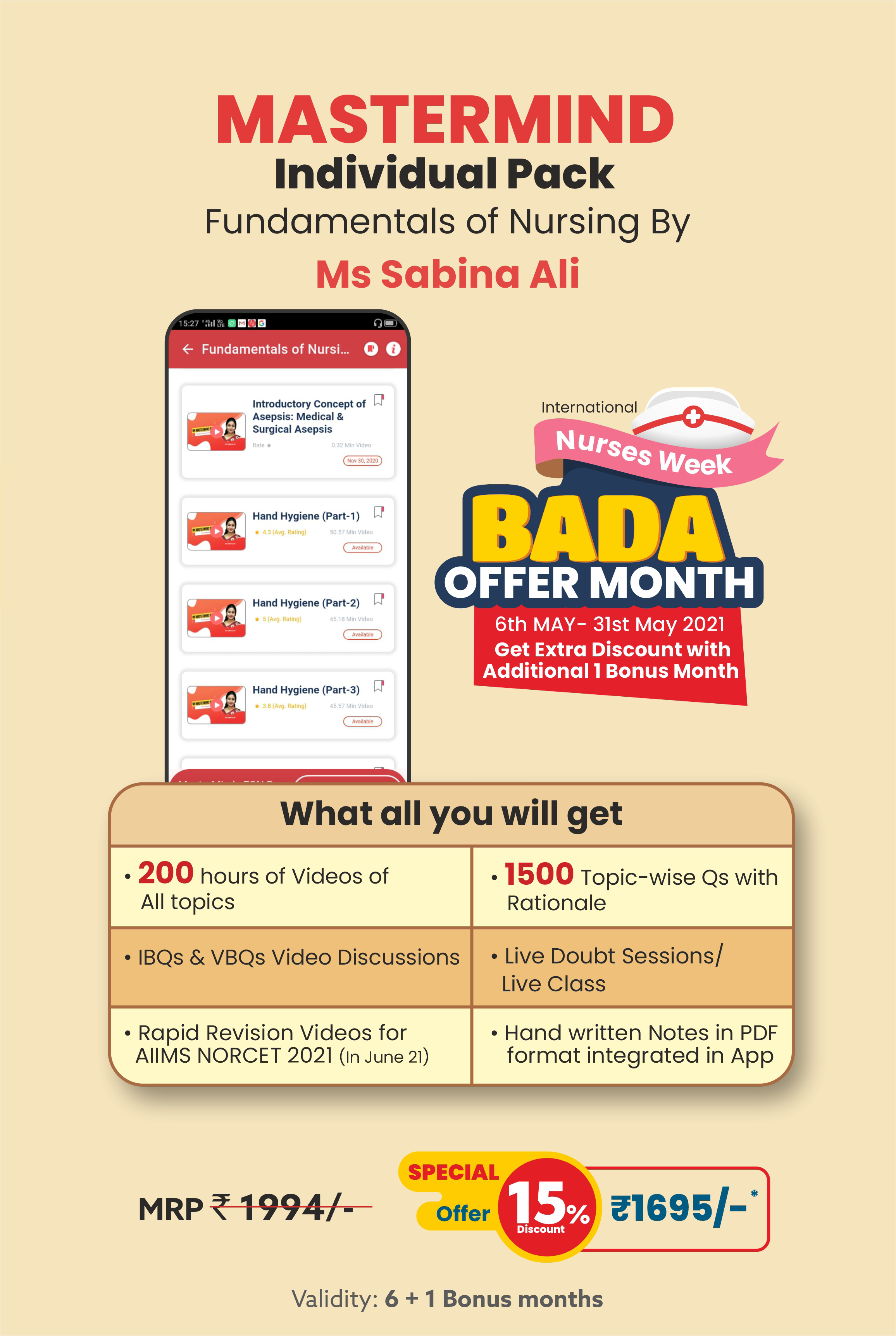 Nurses week - Bada Offer Month Individual Pack-Ms Sabina Ali